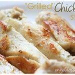 """""""Grilled"""" Chicken Strips"""
