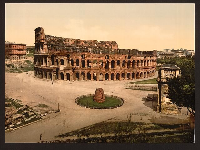 """""""the Colisuem and Meta Sudans"""" Date Created/Published: [between ca. 1890 and ca. 1900]."""
