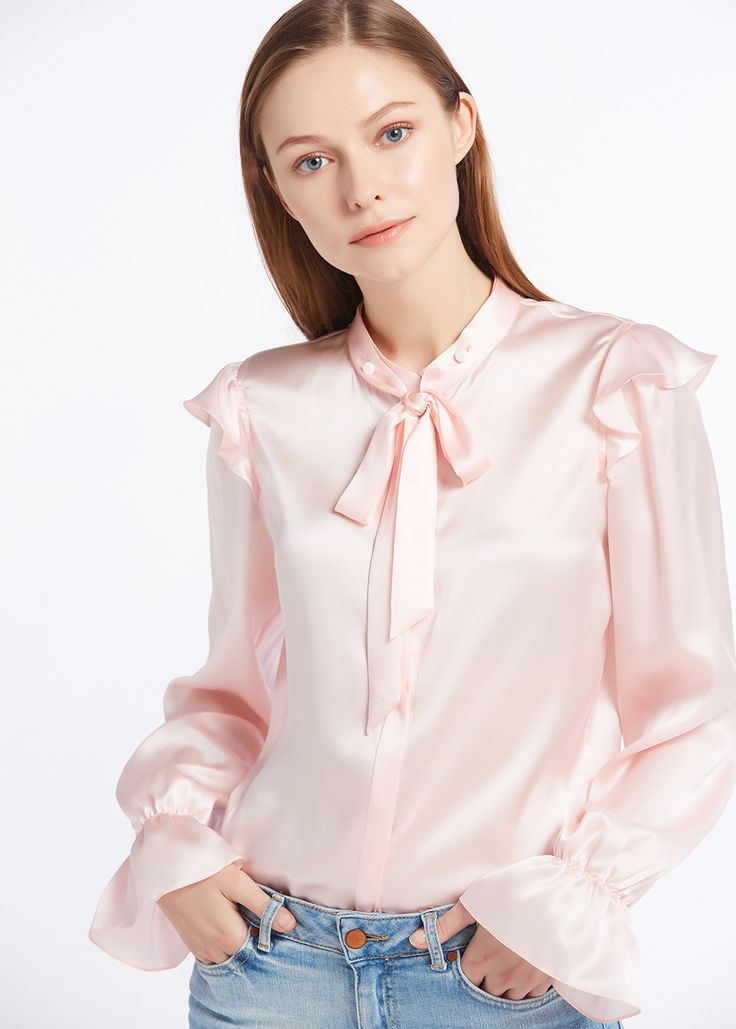 22MM Vintage Poet Sleeve Silk Shirts Sale For Lilysilk. 3 colors available. Mother's day gift. #favorite #design #style #products