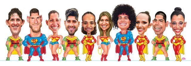 Caricaturas dos atletas Capixabas – Rumo às Olimpíadas Rio 2016