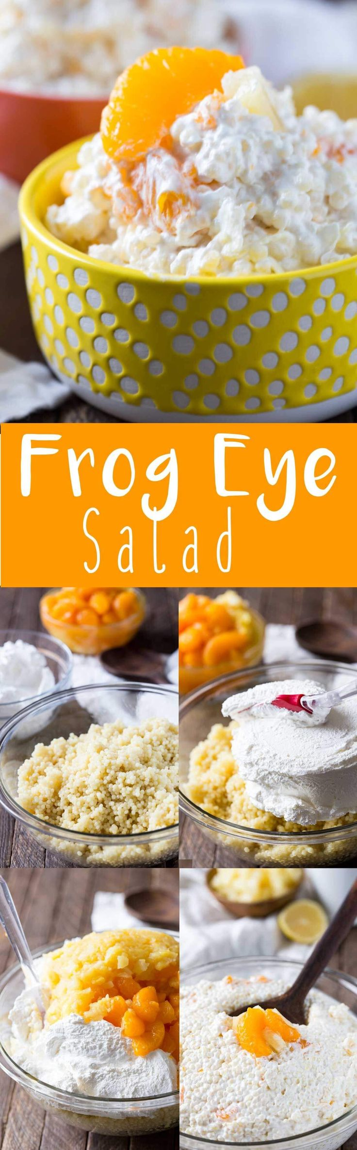 Creamy, fruity, delicious Frog Eye Salad is our go to Thanksgiving Side, but also makes a great dessert. You can add seasonal flare with pomegranates or cranberries, but this salad is delicious just the way it is! Frog Eye Salad is one of those throw back recipes that grandmothers and their mothers have been making...Read More »