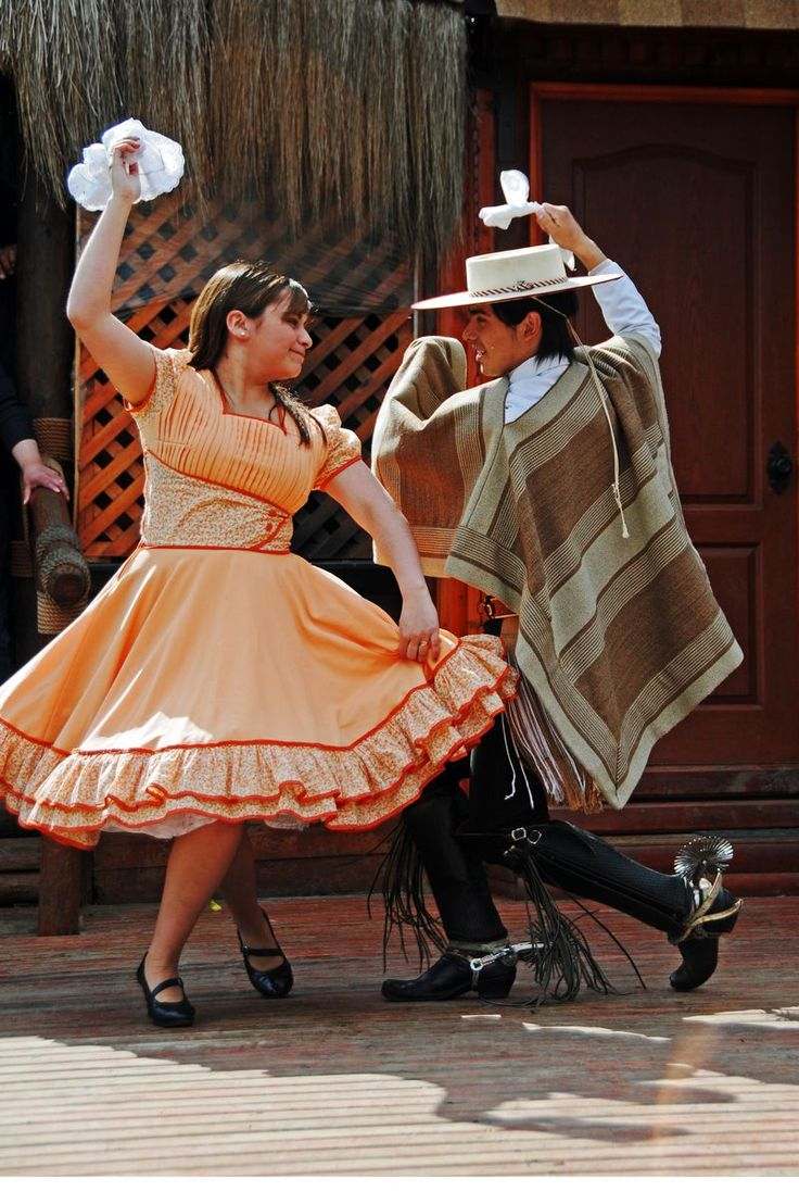 La Cueca. This couple competes every year in the national Cueca competition
