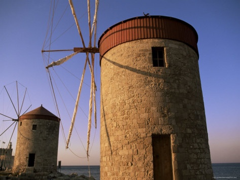 Windmills, Rhodes Greece