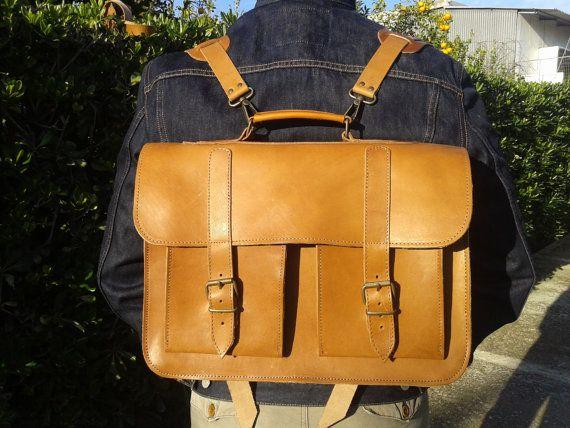 Mens Messenger Bag  Macbook bag  School Briefcase  H12.9xW15.5xD5.3