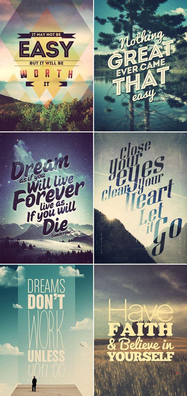 Graphic design poster quotes - Para Inspirar A Semana Frases Motivacionais In Poster