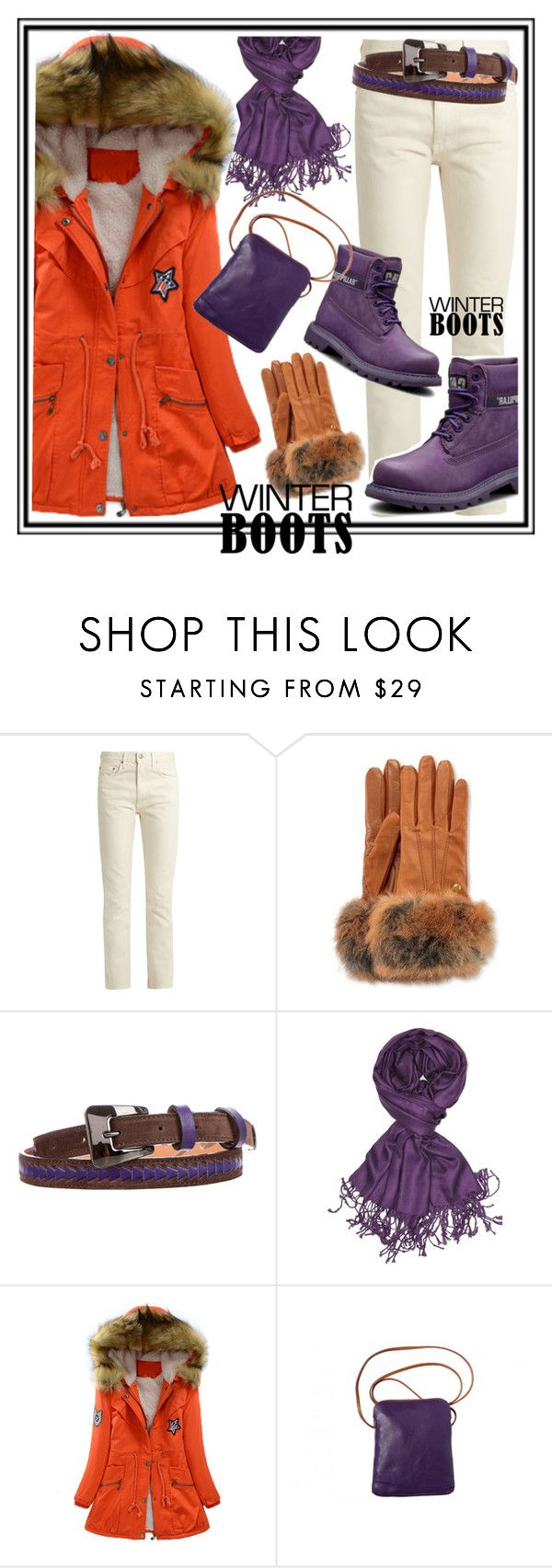 Winter purple boots by amisha73 on Polyvore featuring moda, Brock Collection, Achillea, UGG and Tod's