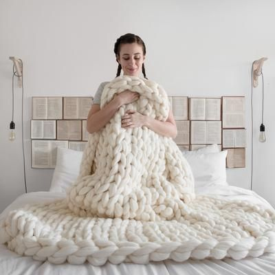 Extreme Chunky Knitted Blanket-Loosely Store