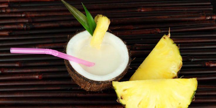 Voed je spieren in de hitte met deze shake. Het is net piña colada, zonder alcohol maar mét 58 gram eiwitten.
