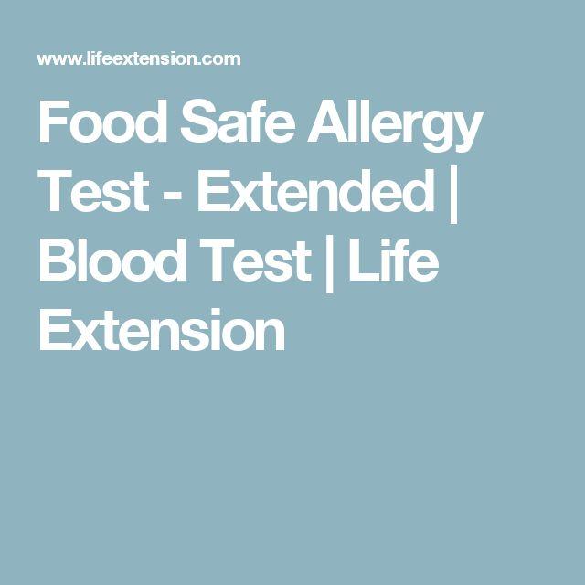Food Safe Allergy Test - Extended | Blood Test | Life Extension