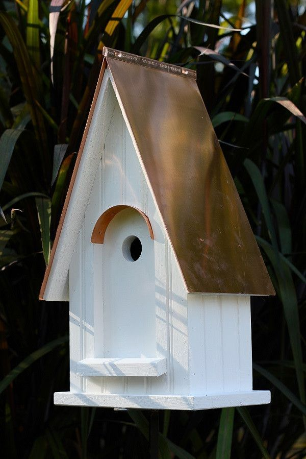White Gables Bright Copper Roof Bird House Bird House Bird House Kits Bird Houses