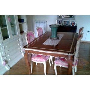 Vendo muebles de segunda mano de un piso de 97m. Muebles de altísima calidad, de madera maciza y comprados en tiendas de renombre. Mesa de segunda mano estilo victoriano con 4 sillas tapizadas. http://www.mano-segunda.com/3127-thickbox/comprar-mesa-estilo-victoriano-madera-noble-en-zaragoza-de-segunda-mano.jpg