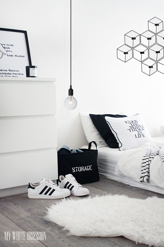 #interior #white #bedroom #adidassuperstar