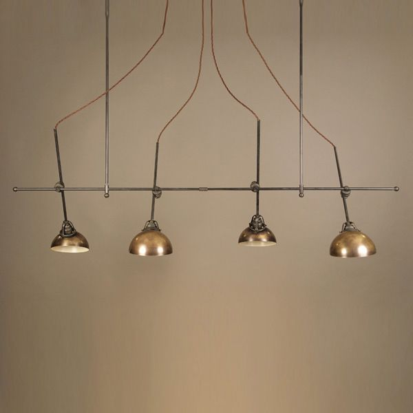 Muselli oggettistica brass hanging light with 4 arms for Muselli arredamenti