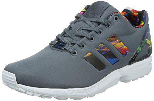 adidas ,  Herren Niedriger Schaft , Multicolor - Grigio/Multicolor - Größe: 45 - http://on-line-kaufen.de/adidas/10-5-adidas-zx-flux-b34510-herren-laufschuhe