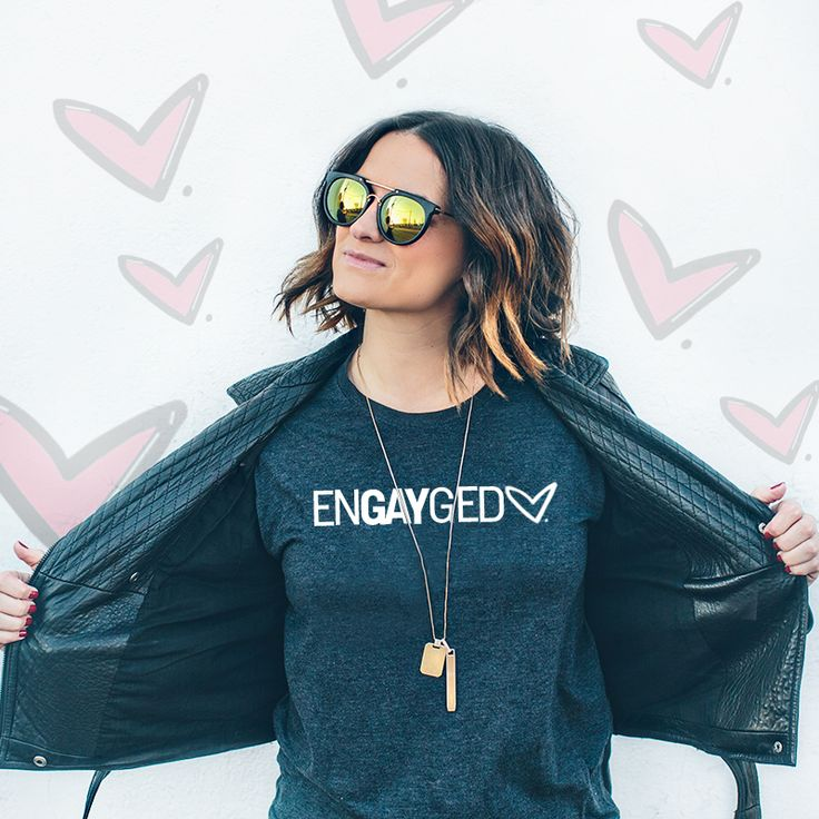 New ENGAYGED shirt for gay and lesbian couples getting married! Snag one here: http://squ.re/2lx1W2e By Steph Grant Photography.