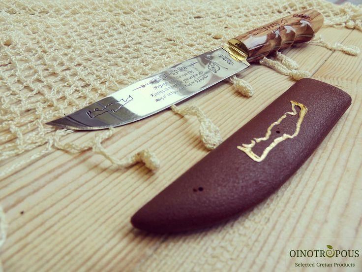 CRETAN KNIFE with olive wooden handle   #cretan #crete #knife #knifecommunity #olive #wood #traditional #souvenir #handmade #giftideas #giftsforhim #giftguide #gifts #gift #oinotropous #etsy #etsyfinds #etsyseller #etsyshop #etsystar