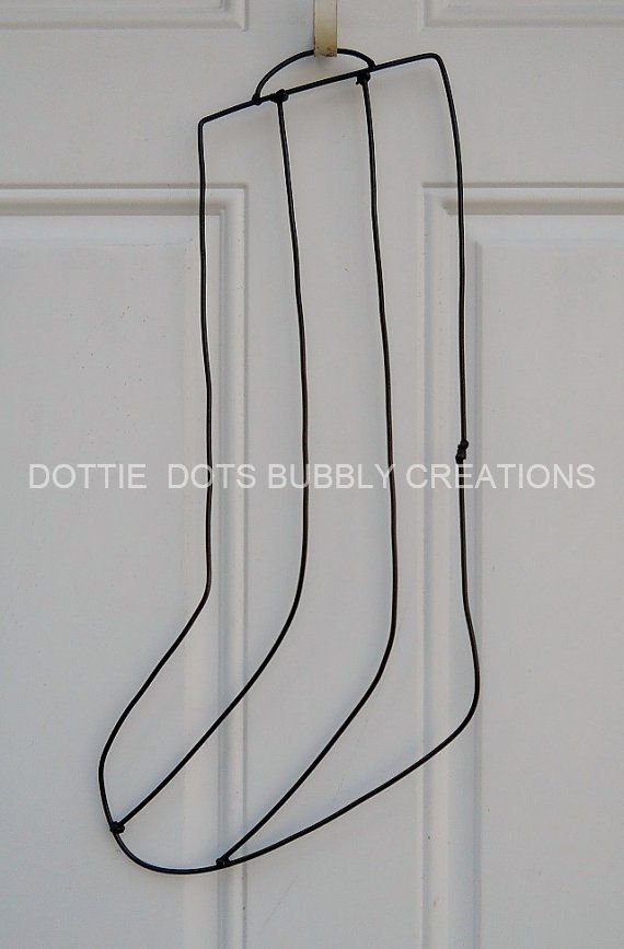 Christmas Stocking Wire Form Etsy Christmas Stockings Wire Wreath Forms Custom Christmas Stockings