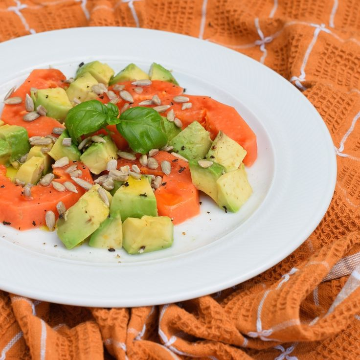 Papaya avocado salad - delicious and simple fruity salad recipe
