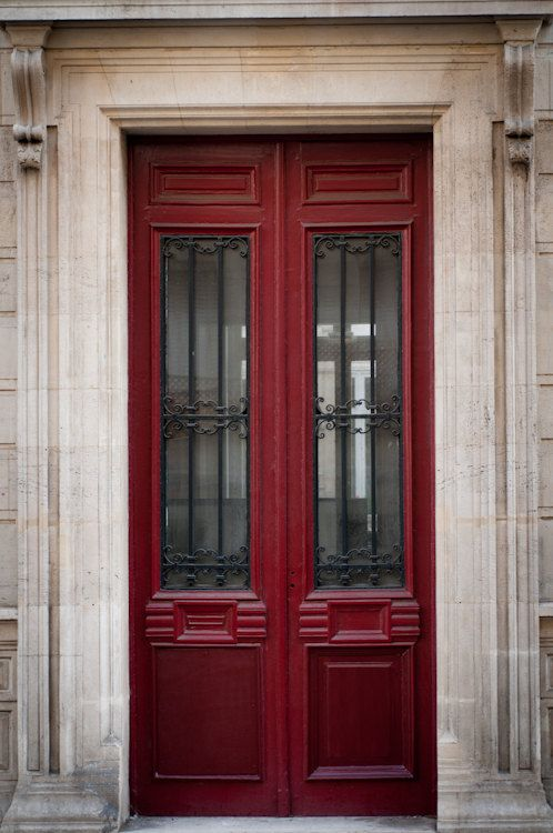 The Red Door, Parisian Architecture, Fine Art Photograph, Urban Home Decor #myobsessionwithreddoors