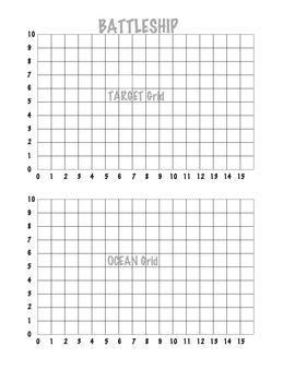 Copy this gameboard, fold in half and place in a file folder for an instant game of Coordinate Battleship.  Students love to practice their coordin...