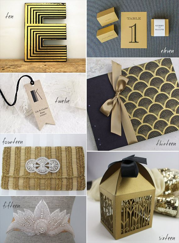 388 best great gatsby images on pinterest game ladder for Art deco wedding decoration ideas