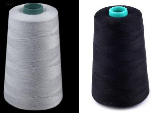 Bílé nebo černé nitě pro domácí i profesionální šití