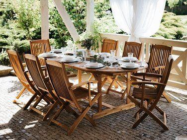 Chaise de jardin avec accoudoirs en bois acacia Maui   Notre ...