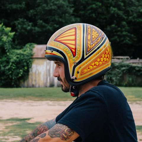 Revival Cycles - Bell Limited Edition Custom 500 Tagger Flashback Motorcycle Helmet -1