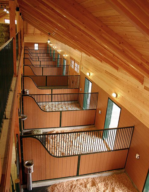 Wild Turkey Farm retirement stable - design by Equine Facility Design  I mite like the wood up in the back to!