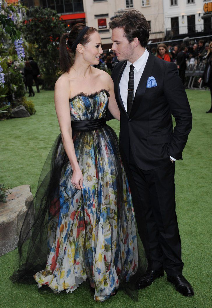Pin for Later: Sam Claflin and Laura Haddock Are the Cutest Red Carpet Couple Ever When Laura Was Sam's Very Own Snow White At the premiere of Snow White and the Huntsman.