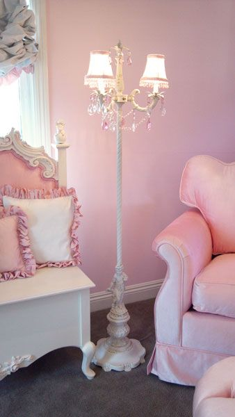 Angel Song Aspen Pink Adult Empire Rocker Glider and Park Avenue Round Ottoman