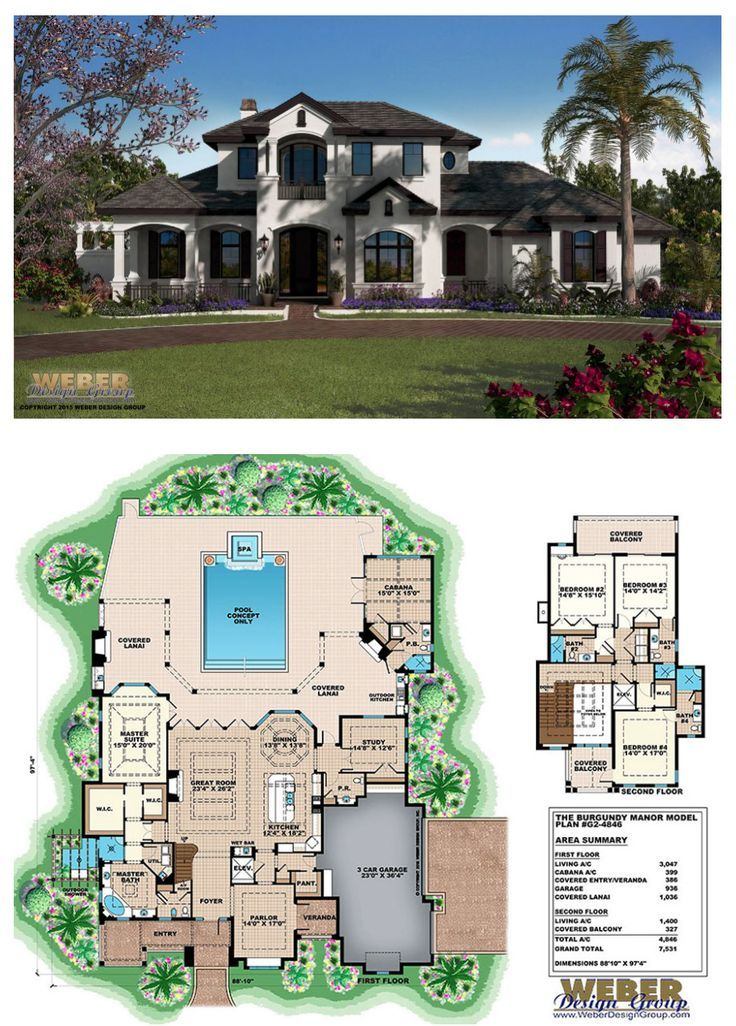 Country House Plan French Country Home Plan With Mediterranean