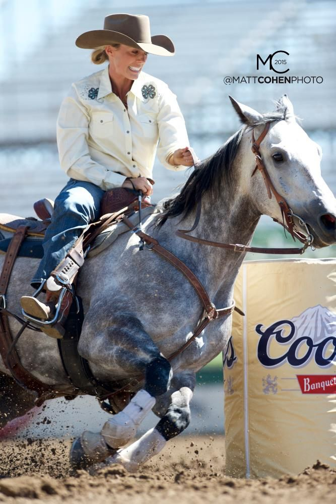 Brittany Kelly, Best Ever Pads sponsored team rider, barrel racing rodeo