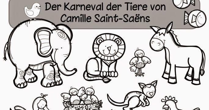 """Kleines Arbeitsheft zum """"Karneval der Tiere""""    In den nächsten Musikstunden werden wir uns mit dem """"Karneval der Tiere"""" beschäftigen. So i..."""
