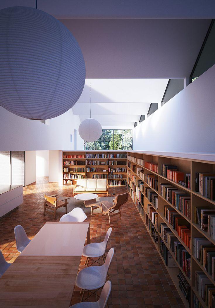 Área de estar de la casa Hendee-borg de William O'Brien Jr. en Sonoma, California