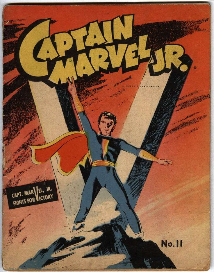 Comic Book Cover For Captain Marvel Jr. [Mighty Midget Comic] #11