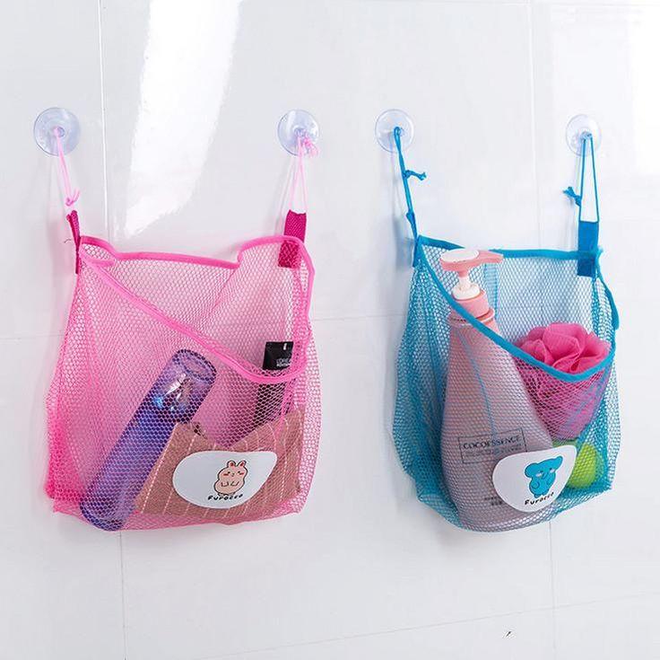 Net sucker Hanging Storage Net Kids Toy Organizer Bag Bedroom Wall Door Closet Kitchen bathroom more Guadai