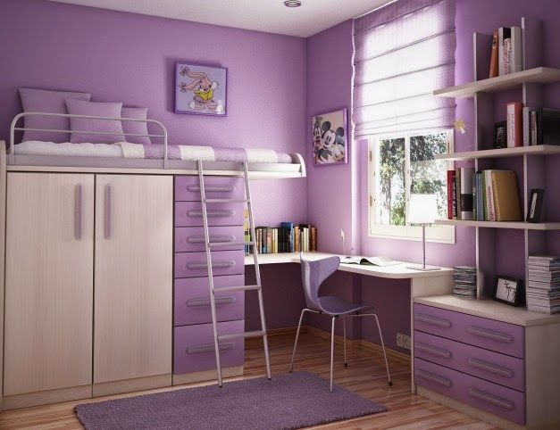 Ide Desain Kamar Tidur Anak Violet Cantik   Griya Indonesia