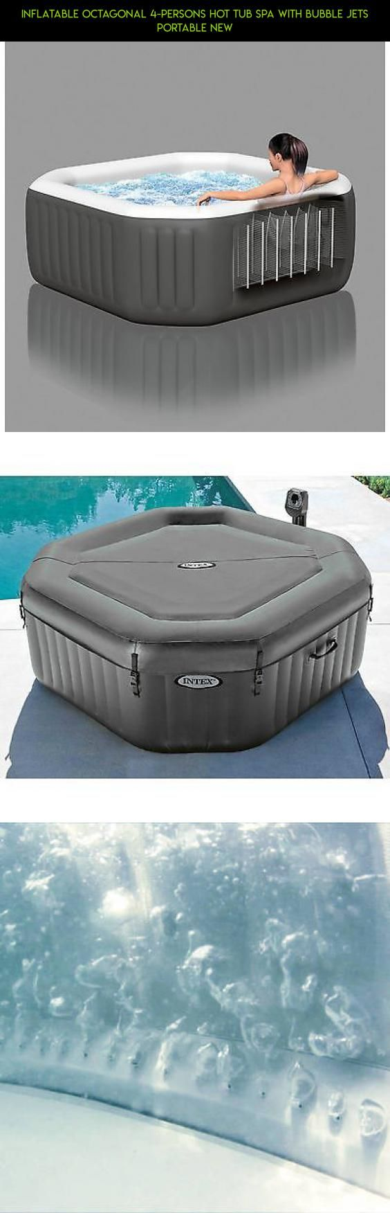 Inflatable Octagonal 4-Persons Hot Tub Spa with Bubble Jets Portable NEW #tech #parts #square #racing #plans #technology #kit #fpv #products #gadgets #drone #tubs #shopping #inflatable #hot #camera