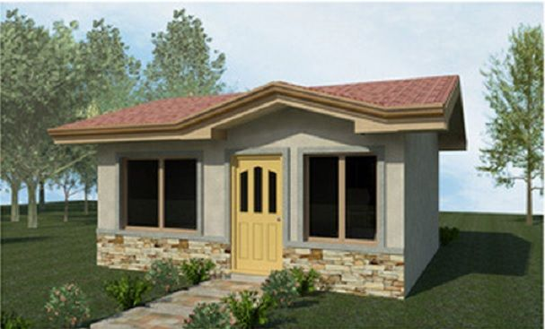 Casa 1 casas prefabricadas pinterest for Casas prefabricadas economicas