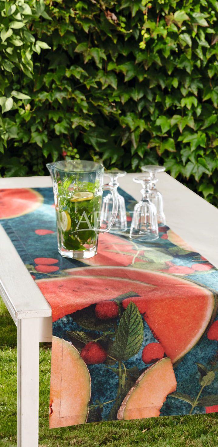 Tischläufer mit sommerlicher Melone, Artikel 6108 von Apelt