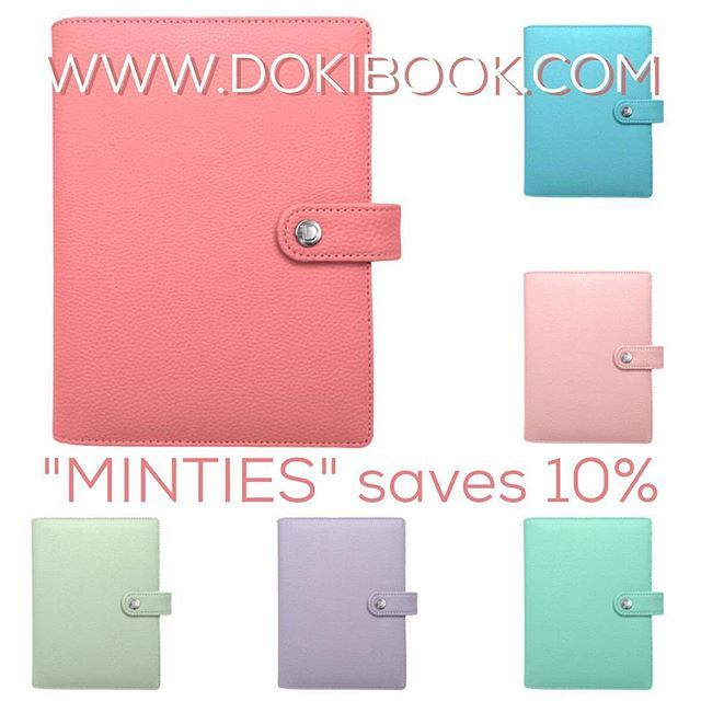 "Remember planner girls!  If you want to purchase on Dokibook.com and use the code ""MINTIES"" you'll get a 10% off.  www.mrandmrsmint.com"