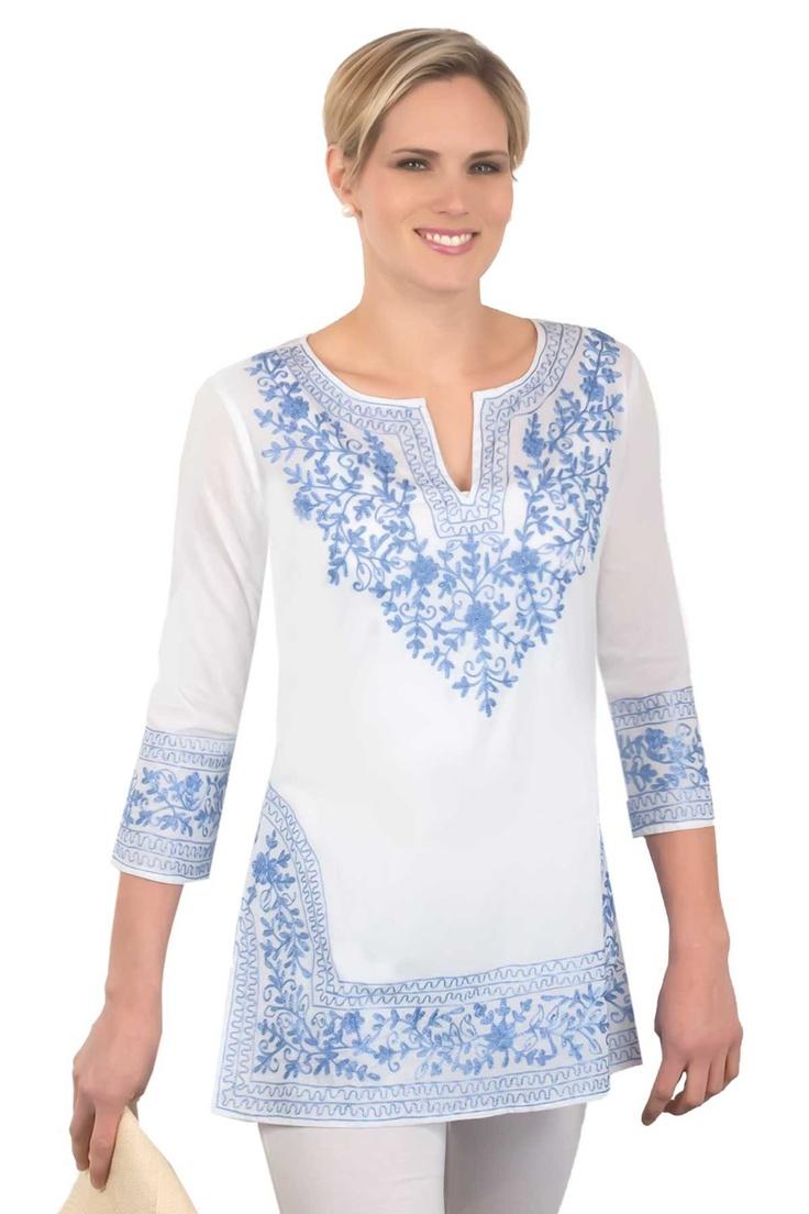 Cotton Embroidered Tunics Gretchen Scott