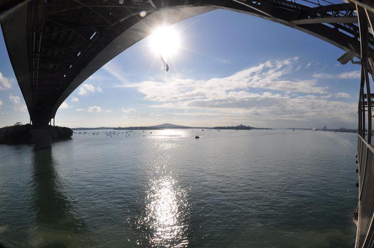 Un premier saut à l'élastique à Auckland par une journée ensoleillée au-dessus de l'eau. Un peu de peur, beaucoup d'adrénaline et surtout beaucoup de bonheur: http://voyagesetvagabondages.com/2014/07/mon-premier-saut-a-lelastique/