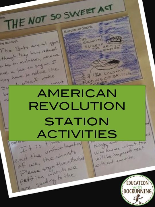 Engage students in the acts that led to the American Revolution. American revolution station activities are ready to use.