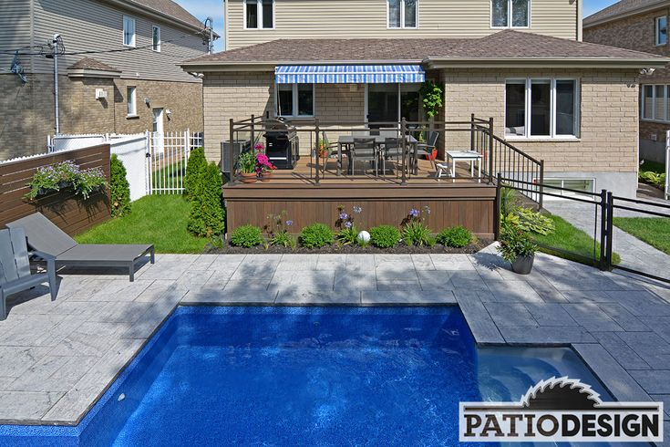 Patio avec piscine creusée