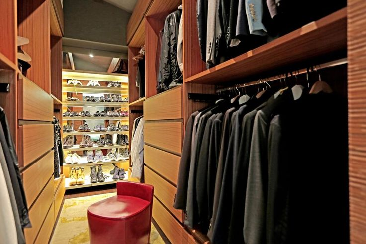 closet in John Legend and Chrissy Teigen's Hollywood Hills house