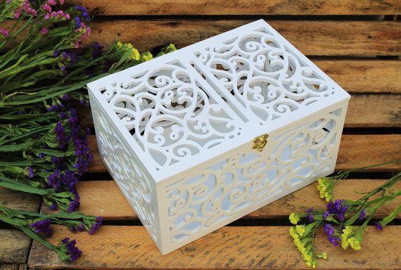 Boîte en carton-mariage cadeau-contreplaqué par LeonArts sur Etsy