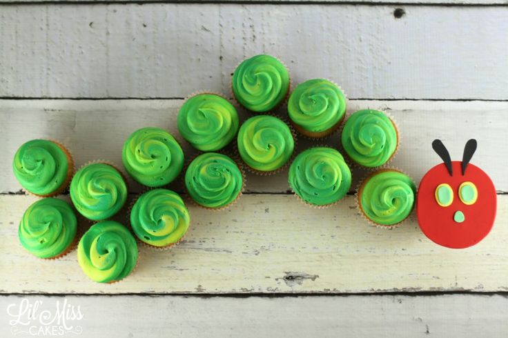 Hungry Caterpillar Cupcakes   Lil Miss Cakes