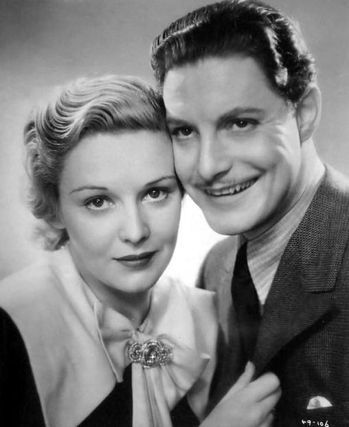 "Madeleine Carroll and Robert Donat. ""The 39 Steps"" (Hitchcock, 1935)"